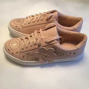 NWOB Nanette Lepore Vegan Leather Pink Sneakers
